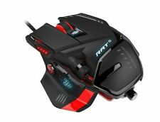 Mad Catz RAT6 Wired Laser Gaming Mouse Black 8200 DPI Kameleon RGB Lighting