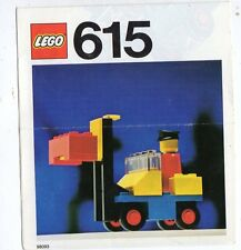 LEGO  615-2: Fork lift with drive    NOTICE/ INSTRUCTIONS BOOKLET / BAUANLEITUNG