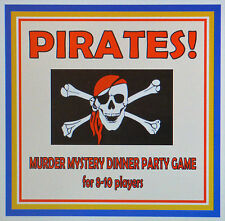HOST A PIRATES! MURDER MYSTERY DINNER PARTY GAME ~ for 8-10 players