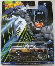 Hot Wheels Pop Culture 2016 DC COMICS Batman 1980 DODGE MACHO POWER WAGON truck