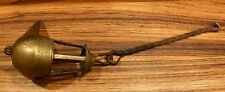Antique bronze grease / oil lamp with forged iron hanger #2 of 2 [Y8-W6-A8-E9]