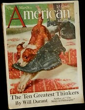 The AMERICAN Magazine March 1927 SOPHIE KERR - ARTHUR W THOMPSON - MIGRATION -