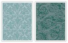 Sizzix Texture Fades Embossing Folders By Tim Holtz 2/Pkg-Damask & 841182054319