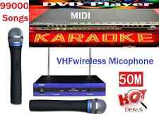 English Tagalog 99000 karaoke Songs MIDI DVD player + 2 VHF Wireless Microphone