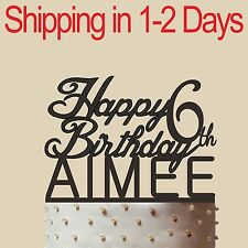 Customized Birthday Cake Topper, Acrylic,Birthday Gift for Relatives Friends 6""