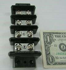 Heavy Duty Stainless Steel Dual Row Terminal Blocks, Big #12-32 Screws, Barrier