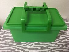 Tupperware Small Storage Carry All Container Green New 12 X 6 X 7