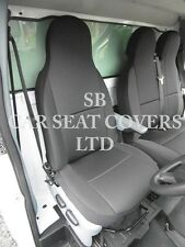 TO FIT A MERCEDES VITO VAN, 2016, SEAT COVERS, EBONY BLACK SINGLE & DOUBLE