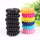 New Women Hair Band Elastic Phone Wire Rope Ring Ponytail Band Tie Coiled 10pcs