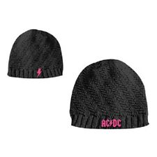 AC/DC WENDE BEANIE/MÜTZE GIRLS ROCK OR BUST BAND LOGO NEU COOL