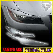 In Stock LA! PAINTED BMW E90 EYELID HEADLIGHT EYEBROW EYELIDS 354 SILVER