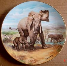 The Kensington Collection Collectors Plate THE NEW ARRIVAL Elephant