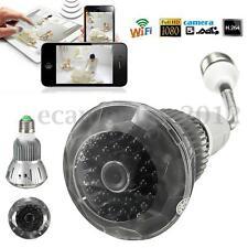 1080P HD WIFI Hidden Wireless Camera H.264 DVR Light Bulb Infrared Night Vision