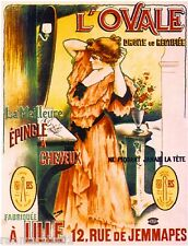 French L'ovale Perfume Toiletry Label Advertisement Art Poster Print