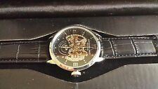 NEW STUHRLING SKELETON MENS WATCH MECHANICAL MOVEMENT WITH WINDING