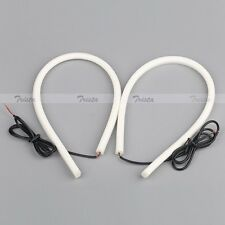 2x85CM 12V LED White Car DRL DayTime Running Strip Light Flexible Soft Tube Lamp