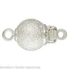 De 7mm Argent Sterling Perle stardust / perles collier fermoir bijoux en push catch