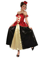 Ladies Adult Fairytale Queen Of Hearts Fancy Dress Costume Book Week Outfit New