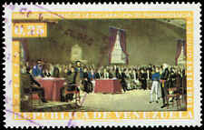Scott # 814 - 1962 - ' Independence Meeting of April 19, 1810. Led by Miranda '