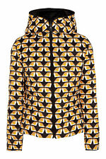 NWT Fendi Bag Bugs Reversible Printed Shell Down Jacket, Size 42