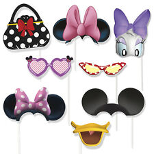 8 Disney Minnie Mouse Birthday Party Favors Gifts Treat Photo Props W/Sticks