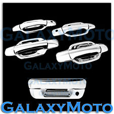 05-12 GMC Canyon Triple Chrome 4 Door Handle With Passenger KH+Tailgate Cover