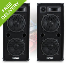 """Pair MAX210 Dual 10"""" Inch DJ PA Party Disco Sound System Speakers 1800W"""