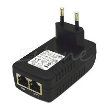 48V 0.5A Wall Plug POE Injector Ethernet Adapter IP Phone/Camera Power Supply EU