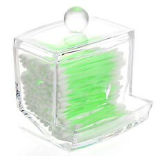 Cosmetic Makeup Case Clear Q-tip Storage Holder Cotton Pad Swab Box Organizer US