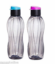 Tupperware Eco Sports Black Flip Top Water Bottles-500ml- Set of 2(PinK& PURPLE)