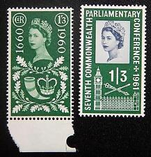Great Britain Grossbritannien Kat. 340 & 350 MNH ** 1960/1 Kat. 10 Euro