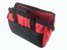 Large STRONG tool bag flat folding canvas WATERPROOF hard base lunch box straps