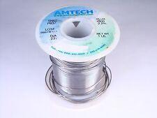 """4300 Amtech Solder Wire SN63 PB37 Tin Lead .031"""" 2.2% Flux 7oz Partial"""