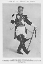 THEATRE Wille Edouin as General Des Ifs - Antique Photographic Print 1905