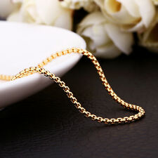 "Stunning Gold Plated Chain/ Necklace 18""+ 2"" extender chain (021)"