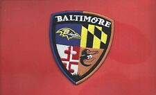 """NEW 3 1/2 X 4 """" BALTIMORE RAVENS-ORIOLES SHIELD IRON ON PATCH FREE SHIPPING"""
