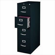 Filing Cabinet File Storage Hirsh Industries 4 Drawer Letter in Black