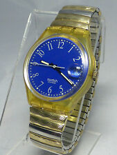 SWATCH 1990 BLUE-LUI - SWATCH WATCH - RUNS