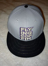 MENS BASEBALL HAT CAP FLYING COFFIN LOGO NEW ERA NE FITTED 59FIFTY 7 1/4 GRAY