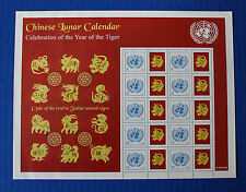 United Nations (S38) 2010 Chinese Lunar Calendar (Tiger) Personalized Sheet