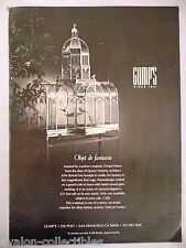 John Buford Bird Cage inspired by Crystal Palace PRINT AD - 1980 ~~ Gump's