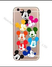 Disney Rainbow Mickey Mouse Clear Silicone Gel Case For iPhone 7