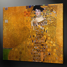 GUSTAV KLIMT LADY WALL ART CANVAS PRINT PICTURE 75 x 75 cm MORE SIZES