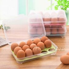 Single Layer Refrigerator Food Eggs Storage Container 15 Egg Plastic Box SE