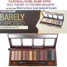 City Color Barely Eyeshadow Palette- Natural  Nude BareTone 12 Colors eye shadow