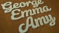 Personalised Script Wooden Word, Name Plaque, Wall Door Art Sign Wedding Gift