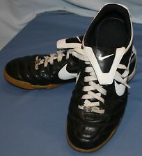 Mens Nike Tiempo Indoor Soccer Cleats Sz 11 Athletic Shoes Sneakers Black