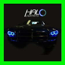 2006-2010 DODGE CHARGER BLUE PLASMA HEADLIGHT HALO ANGEL EYES RINGS by ORACLE