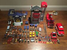 Playmobil Fire Station Truck Helicopter Police Station  3159 3182 5704 3179 3885