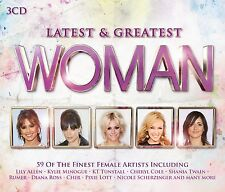 WOMAN-LATEST & GREATEST 3 CD NEU BARBARA DICKSON/SANDIE SHAWN/DINA CARROLL